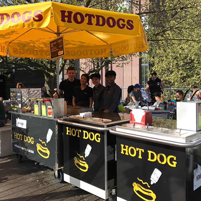 Hot Dog Catering auf der FIBO in Köln